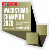 Siegel des Wachstumschampion 2020 von FOCUS